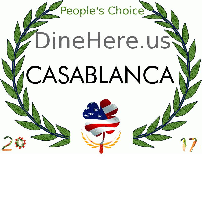 CASABLANCA DineHere.us 2017 Award Winner